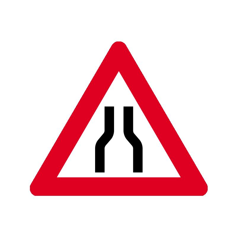 A 43.1 - Indsnævret vej