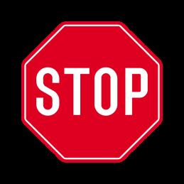 B 13 - Stop