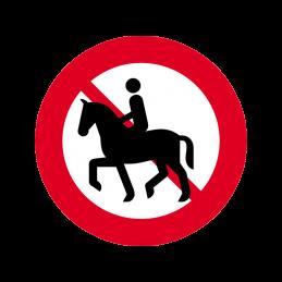 C26.1 - Ridning og føring af hest forbudt