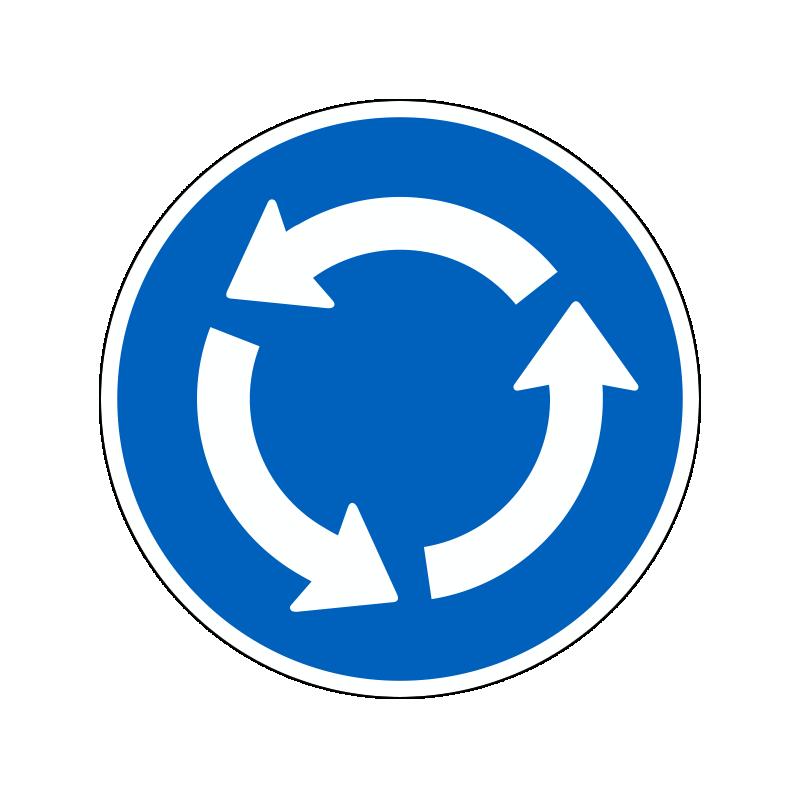 D12 - Påbudt kørselsretning i rundkørsel