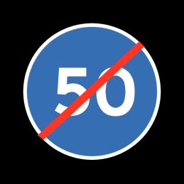 D56 - Ophør af mindste hastighed