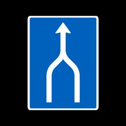 E16.1.1 - Vognbaneforløb med sammenfletning