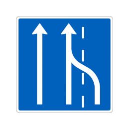 E16.2 - Vognbaneforløb med vognbaneskift