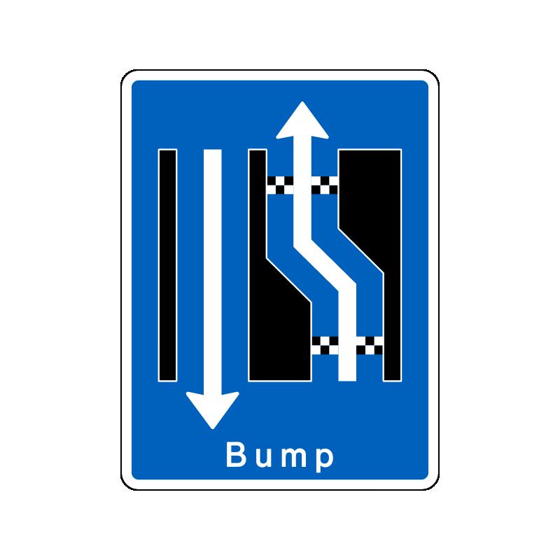 E16.3.04 - Forsætning til venstre med bump