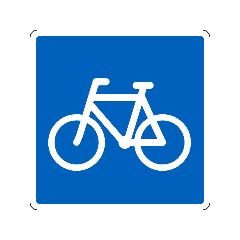 E21.1 - Anbefalet rute for cyklister