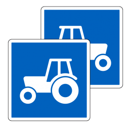 E22.3/E22.3 - Anbefalet rute for traktor og motorredskab
