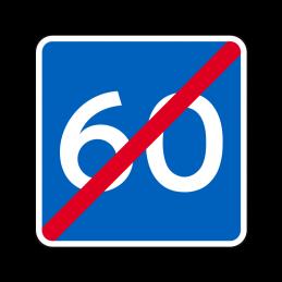 E40 - Anbefalet hastighed ophører