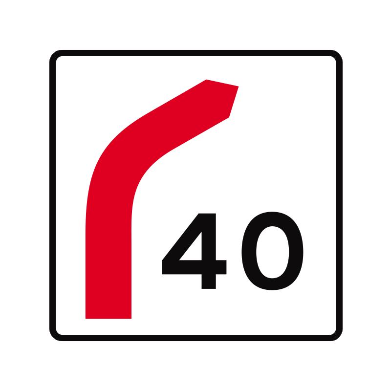 E41 - Hastighedsangivelse for frakørsel