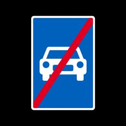 E45 - Motortrafikvej ophører