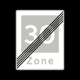 E54 - Ophør af område med fartdæmpning