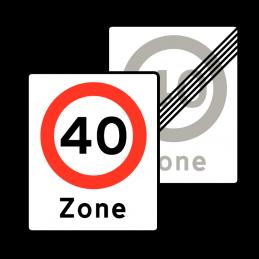 E68.4/E69.4 - Zone med lokal hastighedsbegrænsning / Ophør