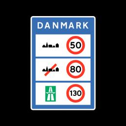E80 - Generelle hastighedsbegrænsninger