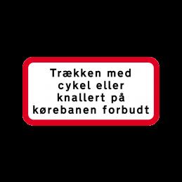 UC 19.1 - Trækken med cykel eller knallert på kørebanen forbudt