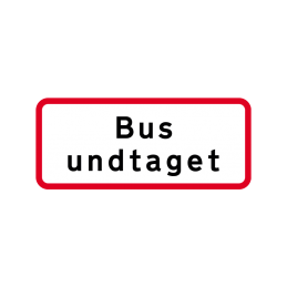 UC 20.4 - Bus undtaget