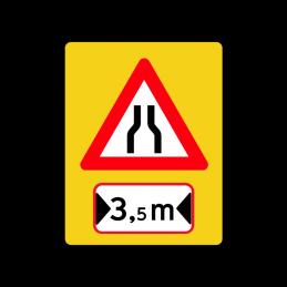 A43.1.1 - Indsnævret vej