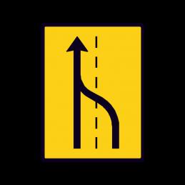 E 16.3 - Vognbaneforløb