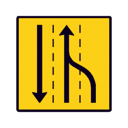 E 16.5.5 - Vognbaneforløb