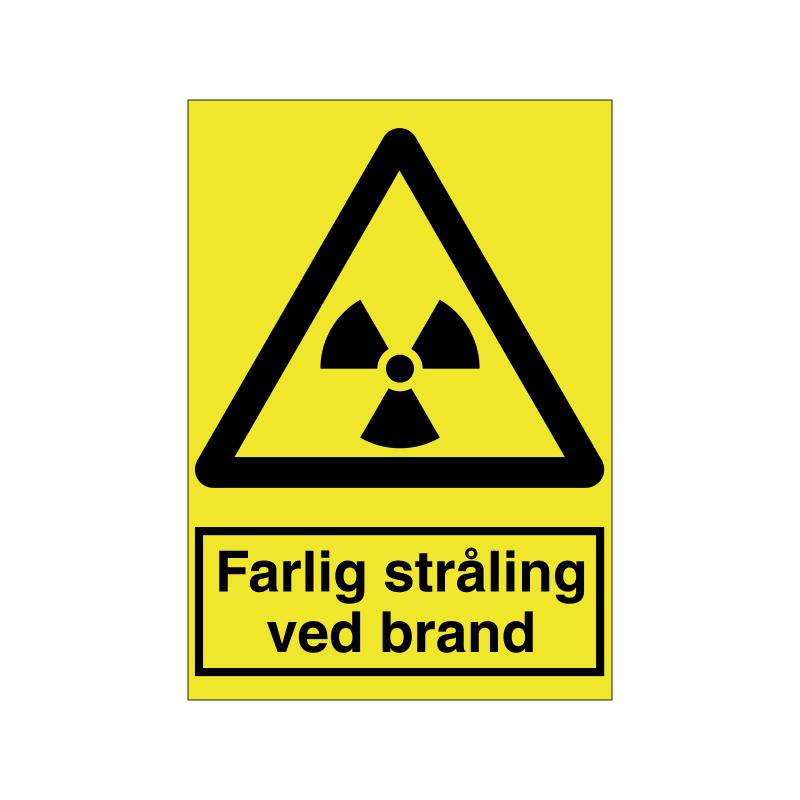 Farlig stråling ved brand
