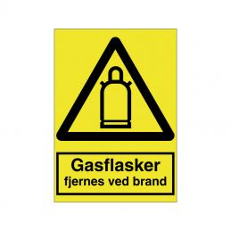 Gasflasker fjernes ved brand