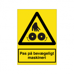 Pas på bevægeligt maskineri