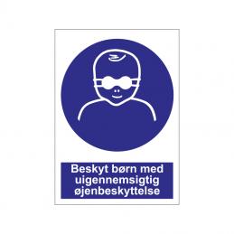 Beskyt børn med uigennemsigtig øjenbeskyttelse