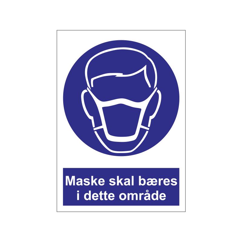 Maske skal bæres i dette område