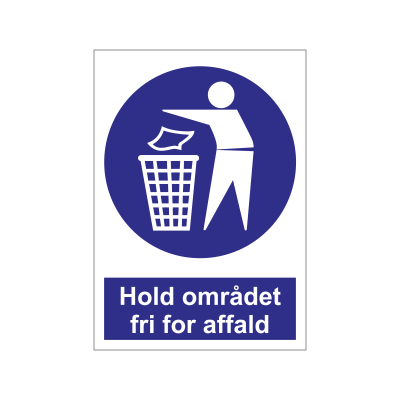 Hold området fri for affald