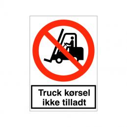 Truckkørsel ikke tilladt