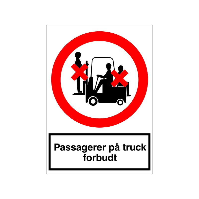 Passagerer på truck forbudt