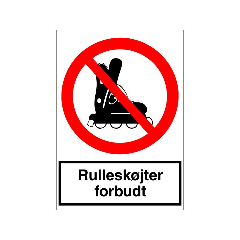 Rulleskøjter forbudt