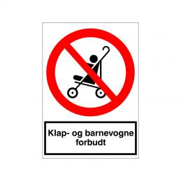 Klap- og barnevogne forbudt