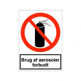 Brug af aerosoler forbudt