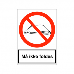 Må ikke foldes