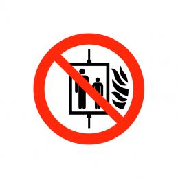 Brug ikke elevator ved brand