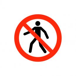Ingen adgang for fodgængere