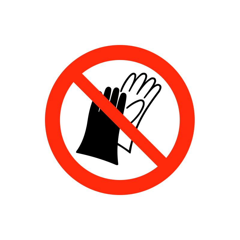 Brug af handsker forbudt