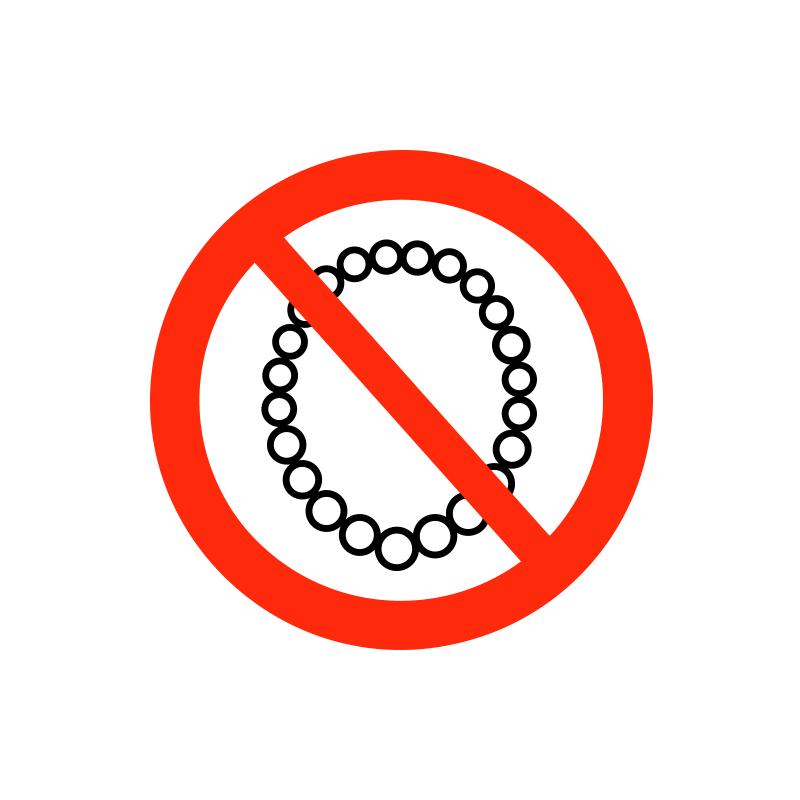 Halskæde forbudt