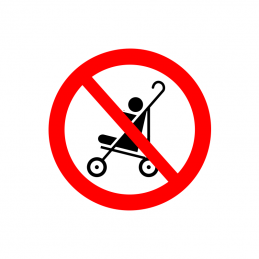 Klap og barnevogne forbudt