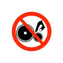 Berør ikke maskine i drift