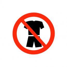Kortærmet trøje og shorts forbudt