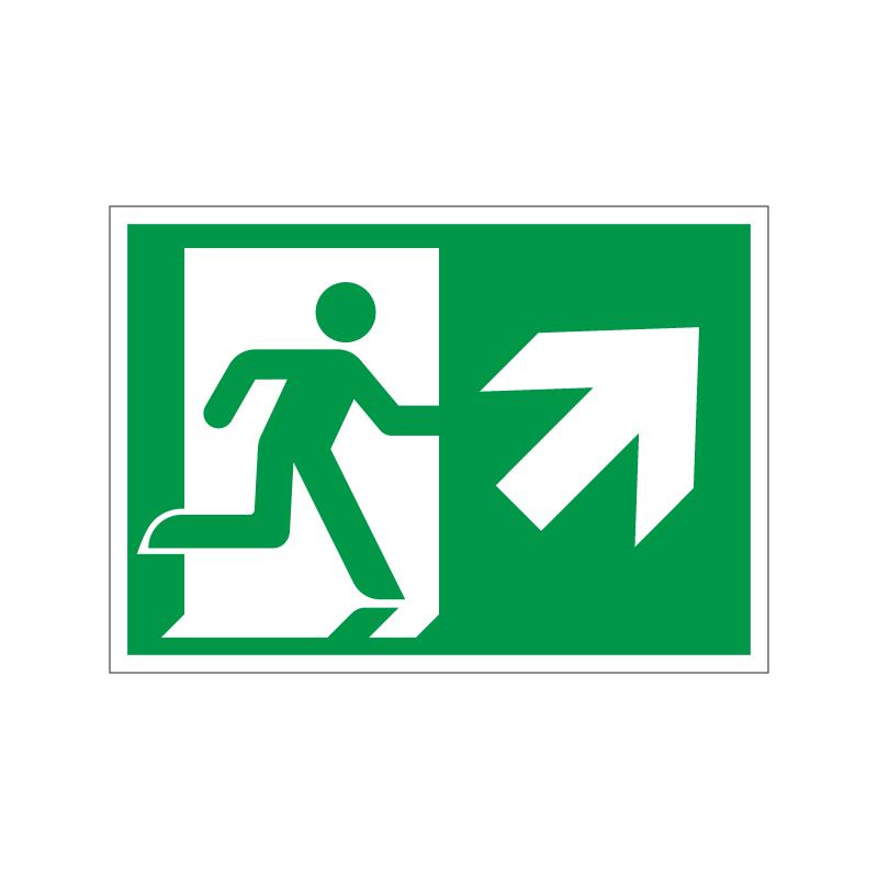 Flugtvej / nødudgang til højre og op