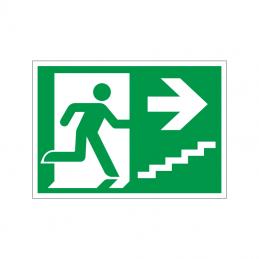 Flugtvej / nødudgang højre trappe op