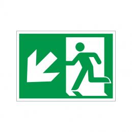 Flugtvej / nødudgang til venstre og ned