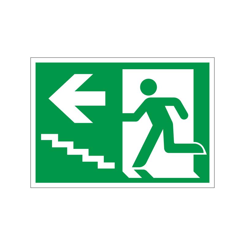 Flugtvej / nødudgang venstre trappe op