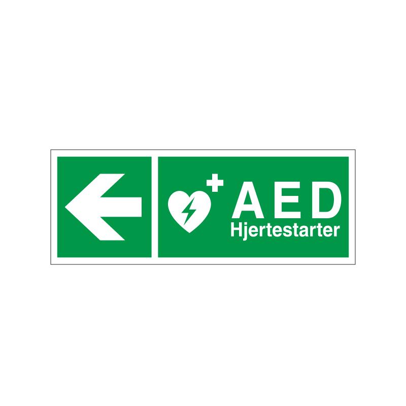 Hjertestarter / AED mod venstre