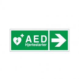 Hjertestarter / AED mod højre