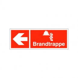 Brandtrappe mod venstre