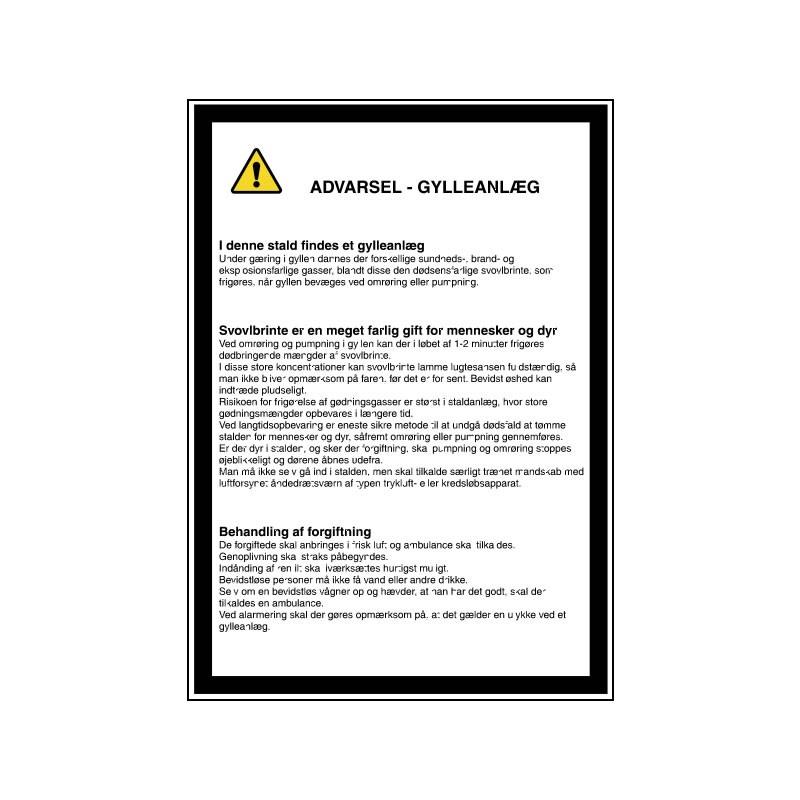 advarsel gylleanlæg