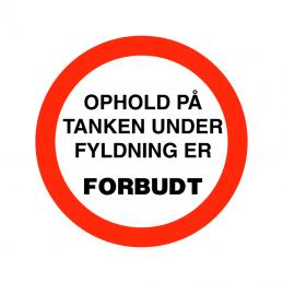 ophold på tank forbudt