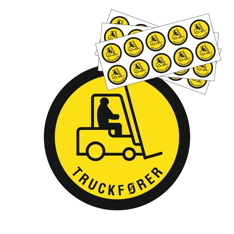 Hjelmmærke - Truckfører